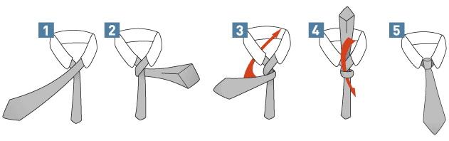 Как завязывать галстук простым узлом Four-in-Hand? (Инструкция в картинках)