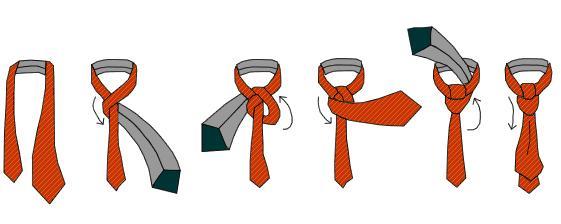 Оборачиваем галстук вокруг шеи