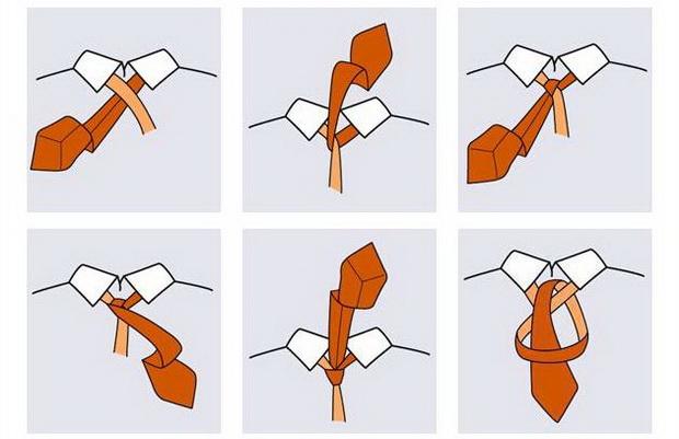 Как завязывать галстук на узел Восточный (Oriental)? (Инструкция в картинках)