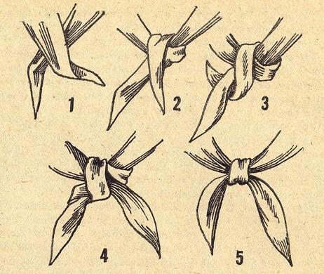 Как завязывать Пионерский галстук (Шейный платок)? (Инструкция в картинках)