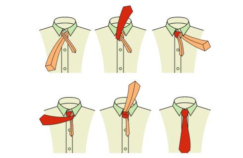 Как завязывать галстук на узел Пратт (Pratt)? (Инструкция в картинках)