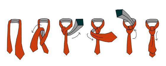 Как завязывать галстук на элегантный узел Windsor? (Инструкция в картинках)